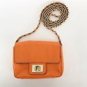 Orange mini cross body